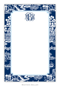 Chinoiserie Navy Notepad