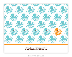 Octopus Repeat Foldover Notecard