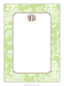 Chinoiserie Green  Flat Card