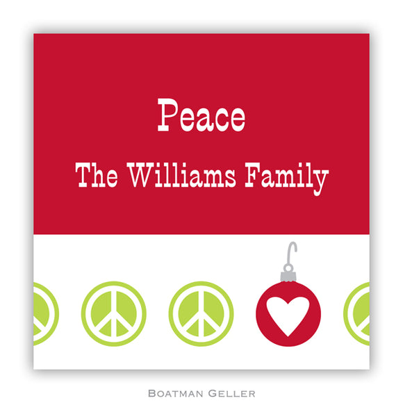 Peace Repeat Holiday Personalized Stickers
