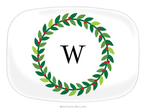 Wreath  Personalized Platter
