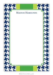 Alex Houndstooth Navy Notepad