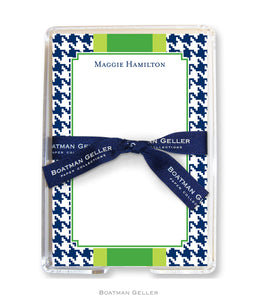Alex Houndstooth Navy Acrylic