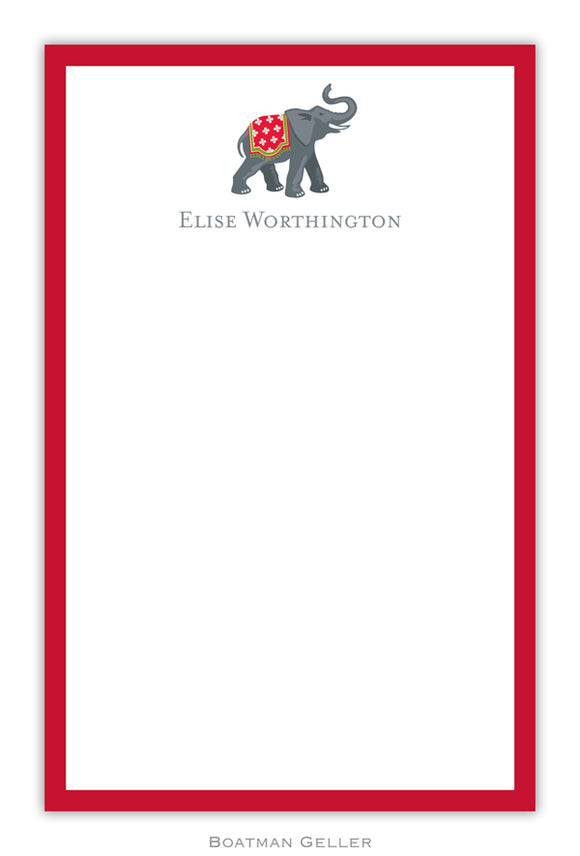 Elephant Holiday Personalized Holiday Notepad