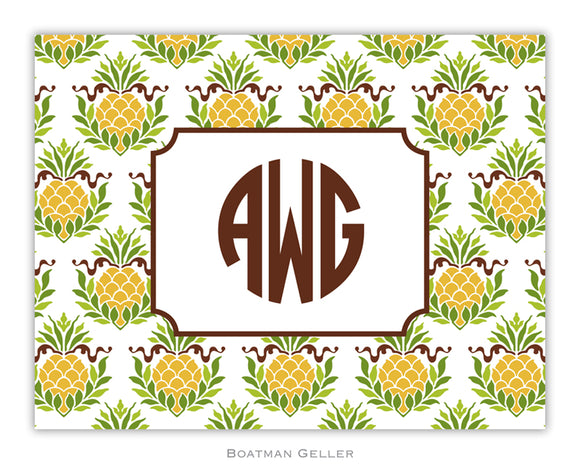 Pineapple Repeat Foldover Notecard