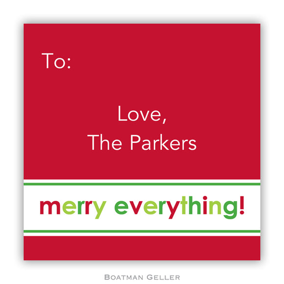 Merry Everything Personalized Stickers