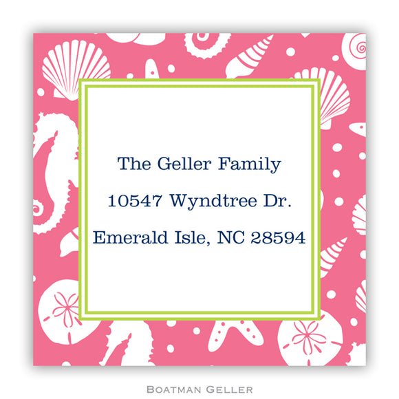 Jetties Pink Personalized Stickers