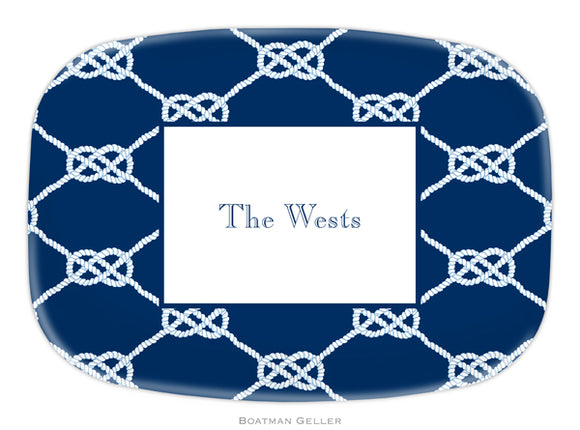 Nautical Knot Navy Platter