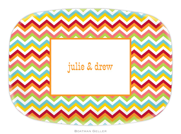 Chevron Bright Platter