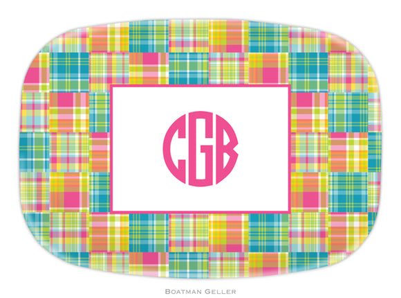 Madras Patch Bright Platter