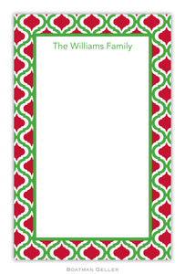 Kate Kelly & Red Personalized Holiday Notepad