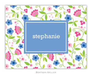 Spring Periwinkle Foldover Notecard