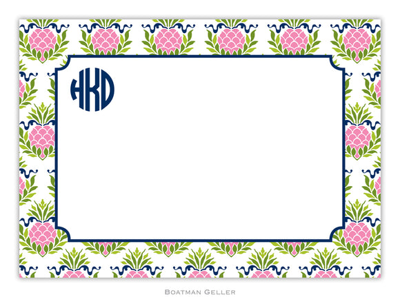 Pineapple Repeat Pink Flat Card