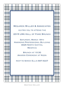 Miller Check Gray & Blue Flat Card