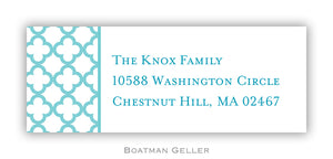 Bristol Petite Teal Personalized Address Label