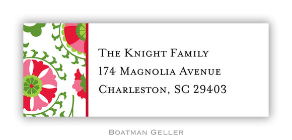 Suzani Holiday Personalized Address Label