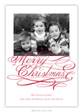 Merry Christmas Script Photo Cards