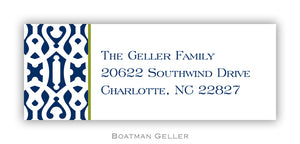 Cameron Navy Personalized Address Label