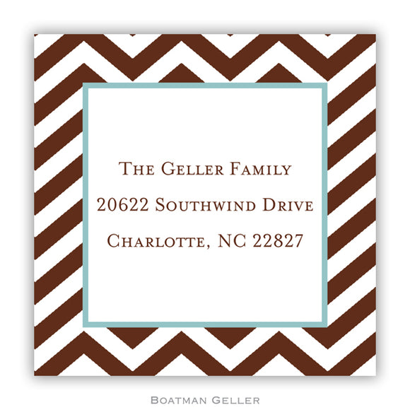 Chevron Chocolate Personalized Stickers