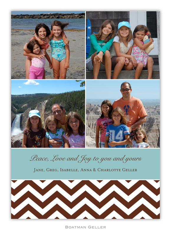 Chevron Chocolate Photo Cards