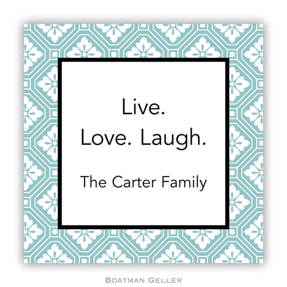 Azra Tile Turquoise Personalized Stickers