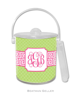 Greek Key Band Pink Ice Bucket