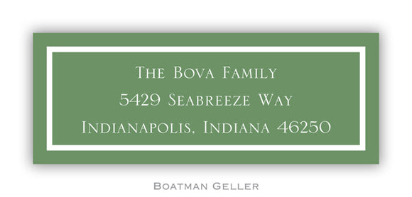 Classic Green Personalized Address Label
