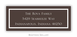 Classic Brown Personalized Address Label