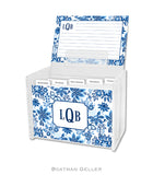 Classic Floral Blue Recipe Cards