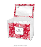 Chinoiserie Red Personalized Recipe Box & Cards