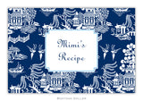 Chinoiserie Navy Recipe Cards