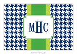 Alex Houndstooth Navy Recipe Cards