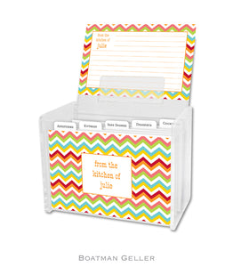 Chevron Bright Recipe Cards