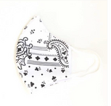 Face Mask with Filter - White Bandana