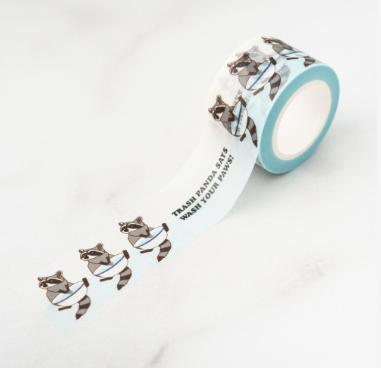 Washi Tape - Trash Panda Wash Your Hands