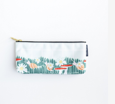 Woodsy Mushrooms and Snail Pencil Pouch
