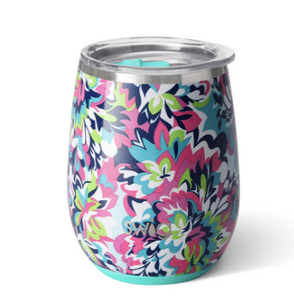 Stemless Wine Cup - Frilly Lilly