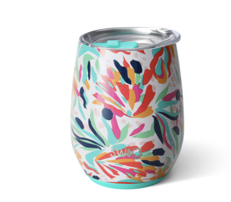 Stemless Wine Cup - Wild Flower