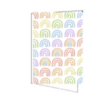 Rainbow Foldover Notecards