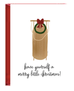 Holiday Boxed Greeting Cards - Sled Christmas