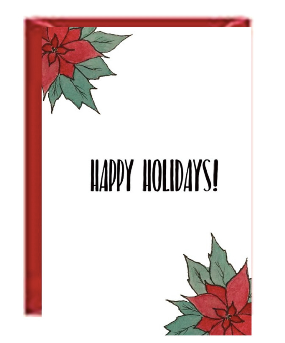 Holiday Boxed Greeting Cards - Poinsetta