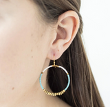 Color Blocked Brass Hoops