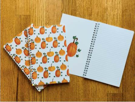 Spiral Notebook- Pumpkin Pattern