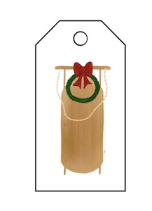 Holiday Gift Tag- Sled