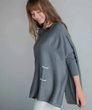 The Catalina Ringer Sweater - Pewter
