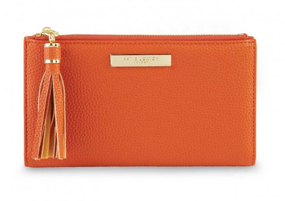 Tassel Fold Out Wallet - Burnt Orange