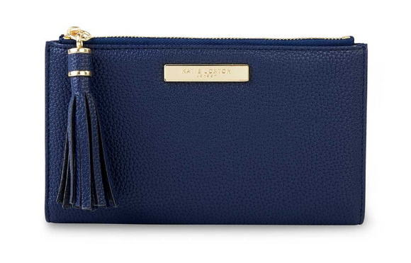 Tassel Fold Out Wallet - Navy