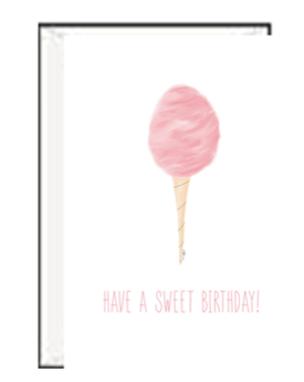 Cotton Candy Sweet Birthday Greeting Card