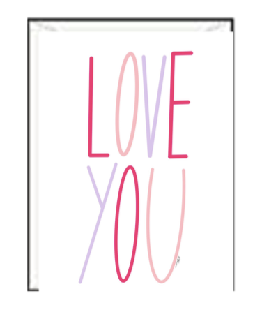 Love You Valentine Greeting Card