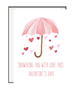 Showering You With Love Valentine Greeting Card